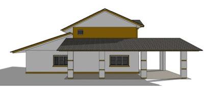 foto rumah minimalis sederhana 2 lantai tampak samping