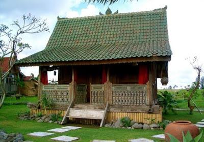 foto rumah sederhana di kampung khas bali