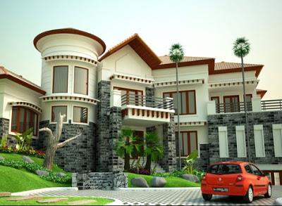 foto rumah termewah di indonesia