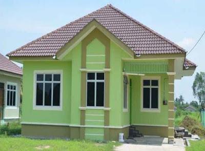 gambar Rumah Idaman Sederhana Di desa Keren hijau