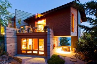 gambar desain rumah kayu mewah terbaik 2017