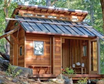 gambar desain rumah kayu sederhana