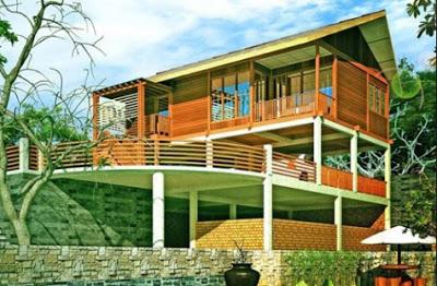 gambar desian rumah kayu mewah minimalis