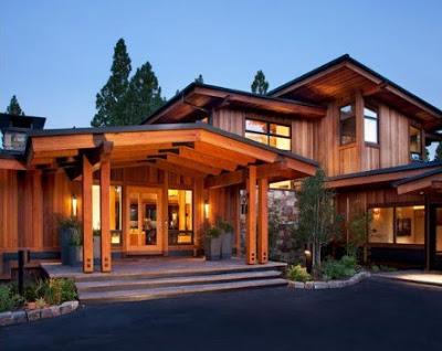 gambar model rumah kayu mewah minimalis