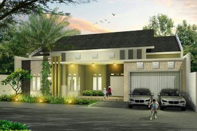 gambar model rumah mewah 1 lantai