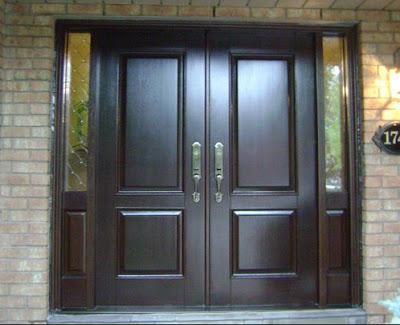 gambar pintu rumah minimalis sederhana dari kayu