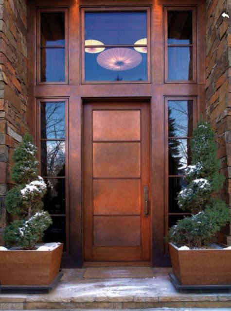 gambar pintu rumah minimalis terbaru dari kayu