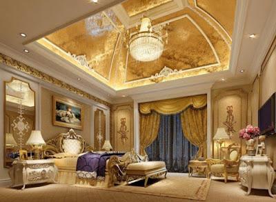 gambar plafon kamar tidur mewah