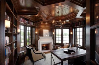 gambar plafon ruang keluarga dari kayu