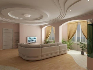 gambar plafon ruang keluarga terbaru