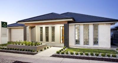 gambar rumah mewah 1 lantai modern 2017