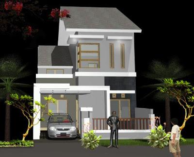 gambar rumah minimalis sederhana type 36 2 lantai