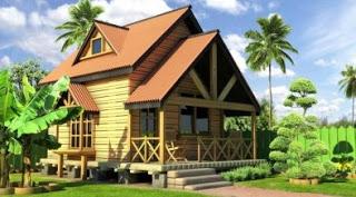 gambar rumah sederhana ala pedesaan