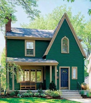gambar rumah sederhana di pedesaan hijau