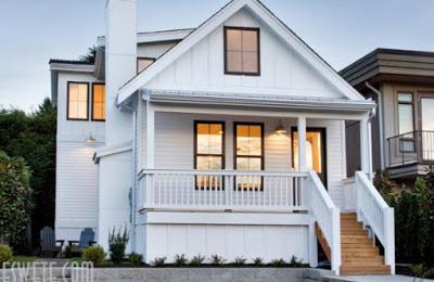 gambar rumah sederhana di pedesaan warna putih