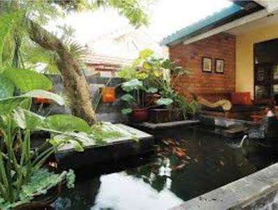 kolam ikan minimalis terbaik