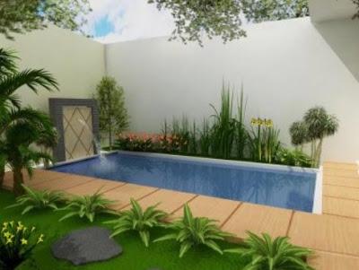 kolam renang di rumah type 36