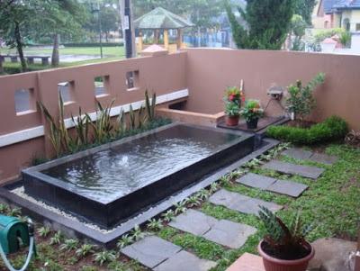 kolam taman sederhana