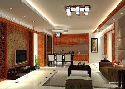 model plafon ruang makan modern