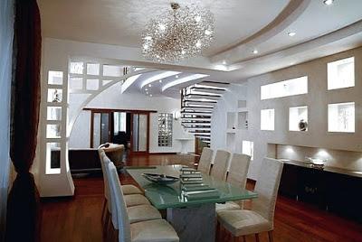 model plafon ruang tamu mewah
