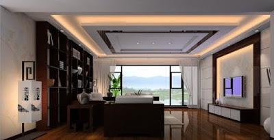 model plafon ruang tamu modern