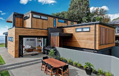 model rumah kayu mewah