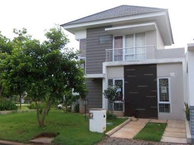 model rumah minimalis 2 lantai type 45