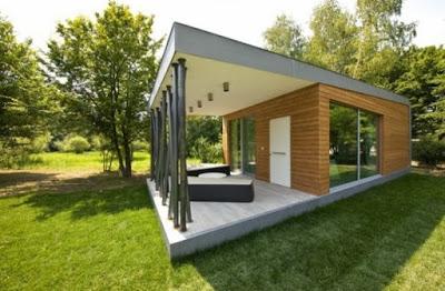 model rumah sangat sederhana di desa modern
