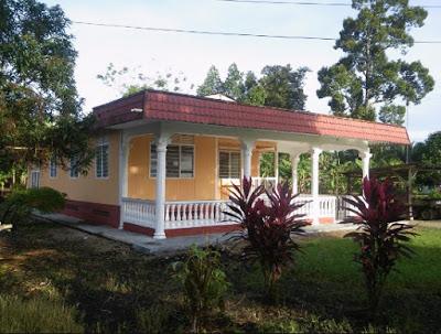 model rumah sederhana kampung dengan teras luas