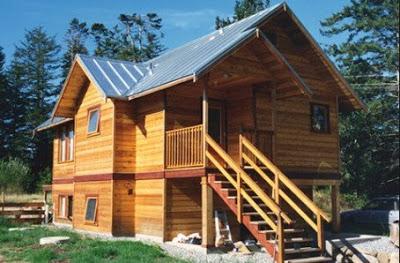 rumah idaman dari kayu klasik 2 lantai
